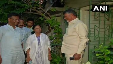 Chandrababu Naidu Meets West Bengal CM Mamata Banerjee, Continues His Efforts for Non-BJP Coalition Even After Exit Poll Predicts Over 300 Seats for NDA
