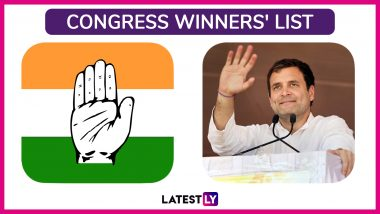 Lok Sabha Elections 2019 Congress Winners List: Constituency-Wise Names of Leading Candidates of INC