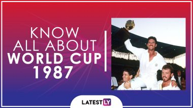 Know All About 1987 Cricket World Cup: History, Participants and Winner of the Fourth Edition of World Cup