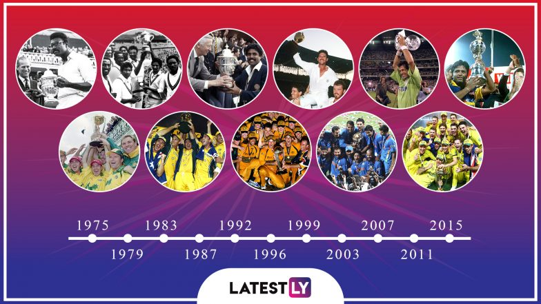 Cricket World Cup History Winners Host Nations