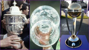 History of Cricket World Cup Trophy: Facts and Evolution of Cricket's Prestigious Title From Prudential to ICC (View Pics & Video)