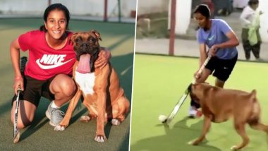Video of Cricketer Jemimah Rodrigues Playing Hockey With Her Dog Theo Is Adorably Cute