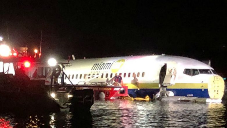 Boeing 737 With 136 Passengers On Board Falls Into River in Jacksonville, Florida After It Skids Runway
