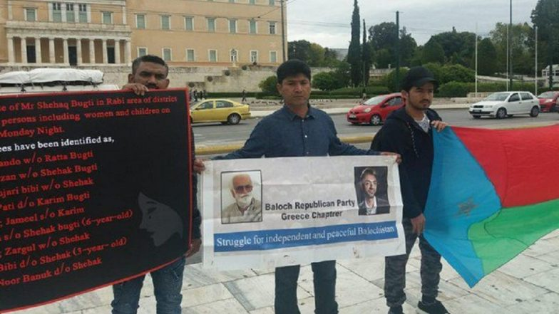 Greece: Protests Held Against Pakistani Forces After Baloch Women, Children Abducted