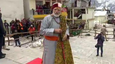 PM Narendra Modi Offers Prayers at Kedarnath Shrine in Uttarakhand, To Visit Badrinath on Sunday