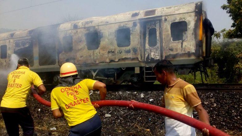 New Delhi-Bhubaneswar Rajdhani Express Fire: Blaze Erupts in Generator Car of Train in Odisha's Balasore, No Casualties Reported