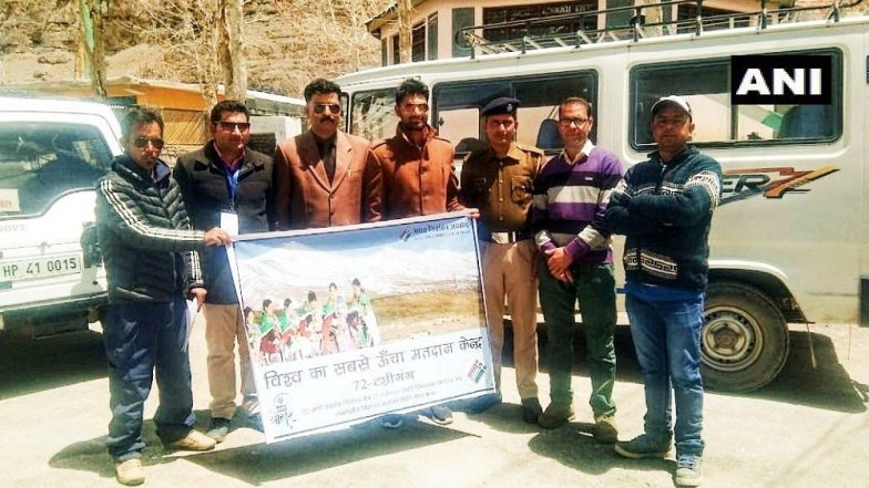 Lok Sabha Elections 2019 Phase 7 in Himachal Pradesh: Polling Team Reaches World's Highest Polling Station in Mandi