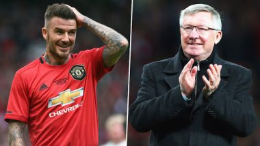 Treble Anniversary Match: David Beckham Reunites With Sir Alex Ferguson and Manchester United Fans at Old Trafford; See Post