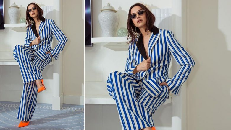 Cannes 2019: We Agree With You Ranveer Singh, Deepika Padukone Looks Like a Complete 'BAWSE' in This Striped Pantsuit