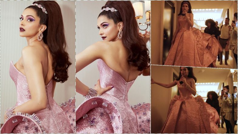 Deepika Padukone Almost Tripped on Her Zac Posen Long Pink Strapless Gown at Met Gala 2019! Watch Video of Her Getting Ready