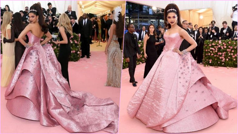 'CAMPBARBIE' Deepika Padukone Shines at Met Gala 2019 Red Carpet in Custom Zac Posen Metallic Pink Lurex Jacquard Gown (View Pics)