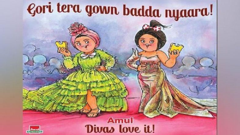 Deepika Padukone, Aishwarya Rai Turn Amul Girls As Brand Celebrates Their Cannes 2019 Look With Caption 'Gori Tera Gown Bada Nyaara'