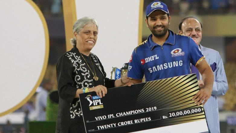 Angry Diana Edulji Hits Out at BCCI Acting President CK Khanna Over Presenting IPL 2019 Winners' Trophy at Presentation Ceremony