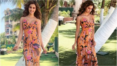 Disha Patani Looks Mesmerising in This Gorgeous Floral Dress, But it is Her 'Slow Motion' Moment That Will Set You Hearts Racing (Watch Video)