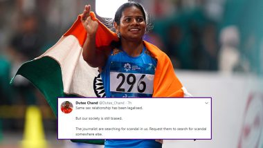 Dutee Chand Takes a Jibe at Society and Journalists After Revealing Her Homosexuality Status