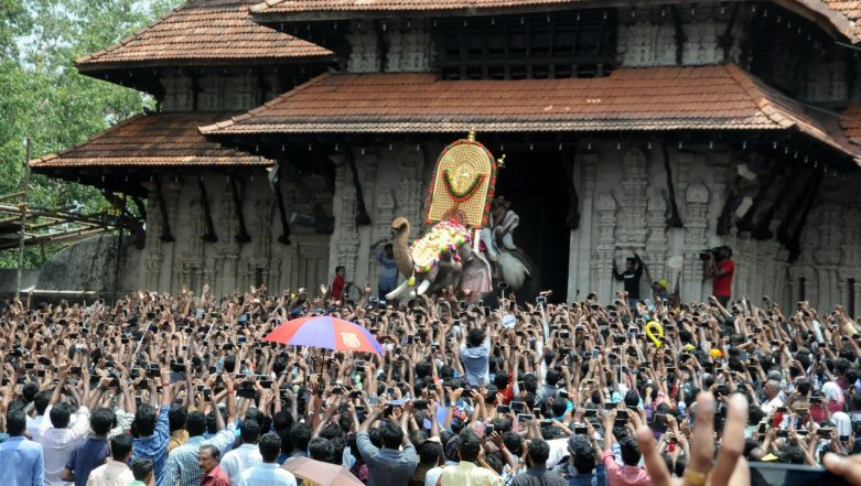 Thrissur Pooram 2019: 54-Year-Old Tusker Marks Opening Ceremony, Over 10,000 People From Across Kerala Attend Festival