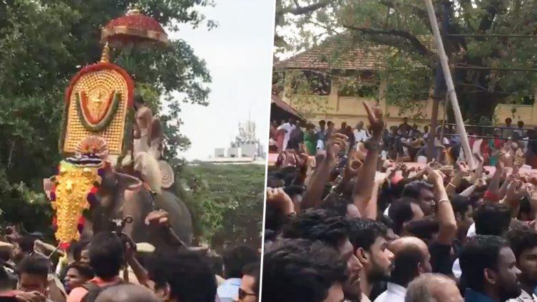 Thrissur Pooram 2019: Elephant Thechikottukavu Ramachandran Arrives at Vadakkumnathan Temple After Being Deemed Fit And Kickstarts Festivities (Pics And Videos)