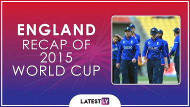 Ahead of ICC Cricket World Cup 2019, Here's a Look Back at How England Fared at the Last Edition of the CWC