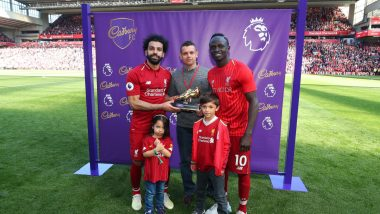 English Premier League Golden Boot Goes to Mo Salah, Sadio Mane and Pierre-Emerick Aubameyang! See Pics of Winners of This First Three-Way Tie Since 1998!