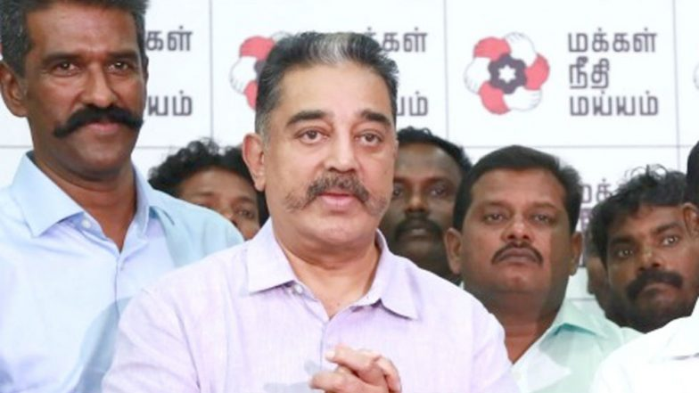 Slippers Thrown At Kamal Haasan Amid Controversy Over His 'First Hindu Terrorist' Remark on Nathuram Godse