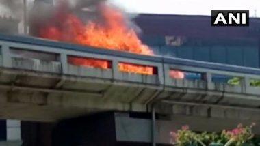 Gujarat: Car Catches Fire at Surat's Sardar Bridge, No Casualties Reported