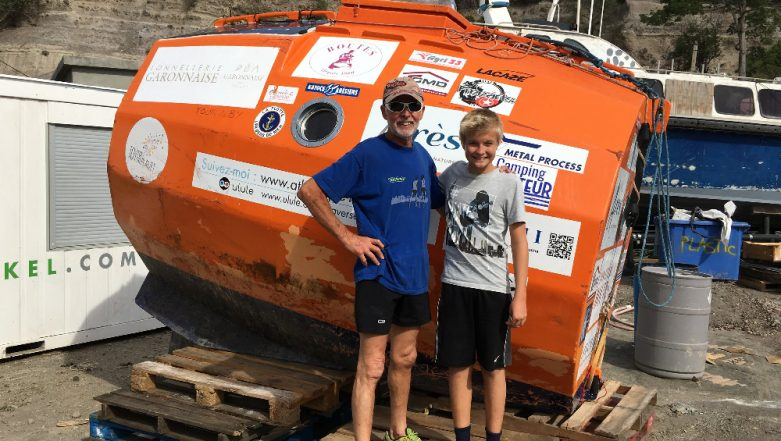Jean-Jacques Savin Who Sailed from Canary Island 5 Months Ago Reaches Caribbean Island in His 'Giant Barrel' (See Pics)