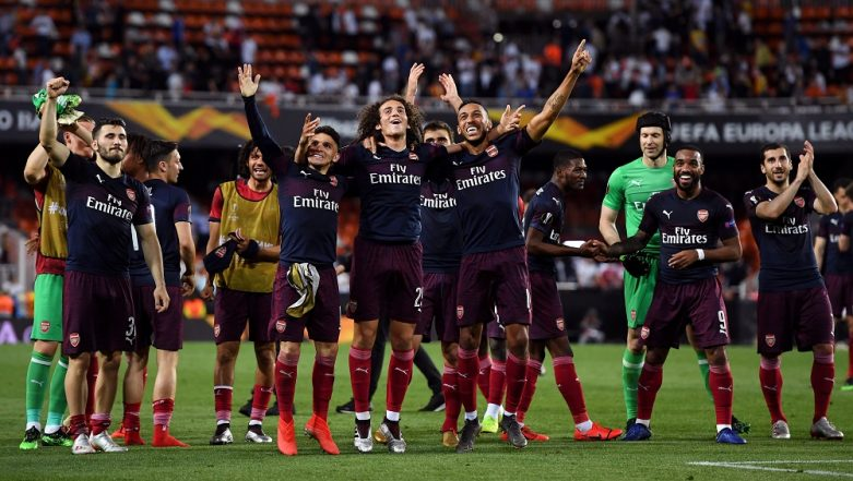 Pierre-Emerick Aubameyang's Hat-Trick Against Valencia Fires Arsenal to Europa League Final
