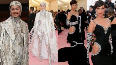 Sisters Gigi Hadid And Bella Hadid's Yin Yang Colours At The Red Carpet Of Met Gala 2019 Are Bewitching! View Pics