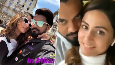 Hina Khan's Cosy Pictures With Boyfriend Rocky Jaiswal in Milan Will Make You Plan a Romantic Getaway This Moment