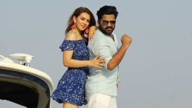 Another Pic Out! Ex-Lovers Hansika Motwani And Simbu Shoot For Maha On A Yacht