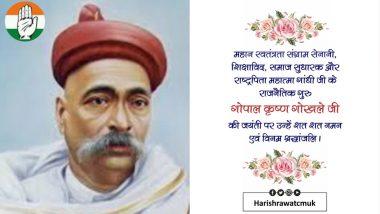 Harish Rawat Trolled On Twitter For Posting Image of Lokmanya Tilak in Gopal Krishna Gokhale Birth Anniversary Message