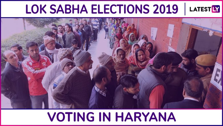Haryana Lok Sabha Elections 2019: Phase 6 Voting Ends in Ambala, Sonipat, Kurukshetra, Gurgaon and 7 Other Parliamentary Constituencies; 62.43% Voter Turnout Recorded