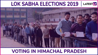 Himachal Pradesh Lok Sabha Elections 2019: Phase 7 Voting Ends for Kangra, Hamirpur And Two Other Parliamentary Constituencies; 71.73% Voter Turnout Recorded