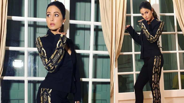 Hina Khan's Monochrome Pantsuit Is the Next Thing You'll Look for on Shopping Sites – View Pic