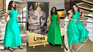 Hina Khan Dons a Stunning Rami Al Ali Midi Dress to Launch Her Film Lines' Poster at Cannes 2019 (View Pics)