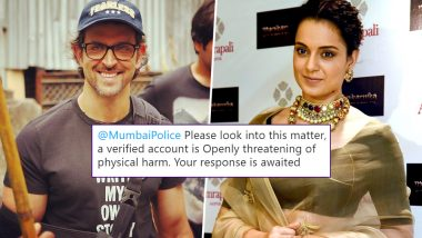 Twitterati Find Rangoli Chandel's Posts on Hrithik Roshan Offensive, Ask Mumbai Police to Take Action Against Kangana's Sister