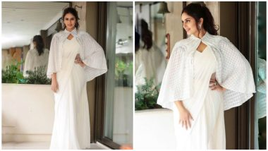 Cannes 2019: Huma Qureshi Taking Fashion To Next Level by Pairing White Saree With an Embellished Cape Will Make You Say 'Sari Not Sorry'! (View Pics)