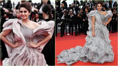 Cannes 2019: Huma Qureshi Is The Ruffle Queen in a Metallic Grey Gaurav Gupta Gown (View Pics)