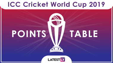 ICC Cricket World Cup 2019 Points Table Updated: Australia Loses to South Africa, Remains on Number Two