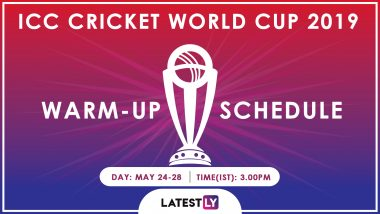 ICC Cricket World Cup 2019 Warm-Up Schedule for Free PDF Download Online: Full Timetable Including Team India's Fixtures, Venue and Match Timings in IST