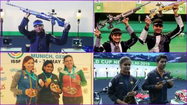 India Tops ISSF World Cup 2019 Medal Table and Tally: Saurabh Chaudhary, Manu Bhaker, Anjum Moudgil Win Gold Medals to Rank First in Country-Wise Standings