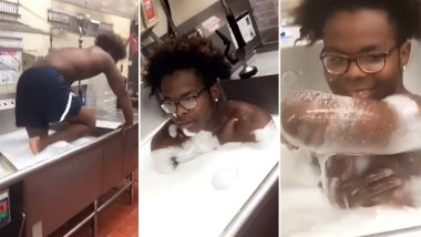Employee Takes a Bath in Giant Kitchen Sink at Wendy's Restaurant, Customers Enraged as Video Goes Viral