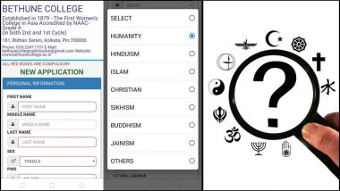 Kolkata's College Introduces 'Humanity' as One of the Religions You Can Choose in Admission Form and People Cannot Contain Their Happiness!
