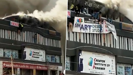Surat: Huge Fire at Coaching Centre; 19 Students Dead, 8 Injured; Watch Horrific Video