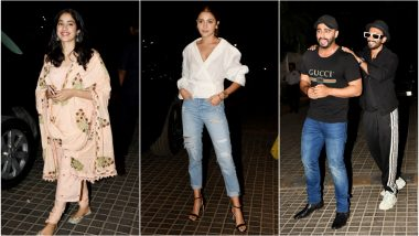 India's Most Wanted Special Screening: Anushka Sharma, Janhvi Kapoor and Ranveer Singh Watch Arjun Kapoor's Spy Thriller - View Pics!