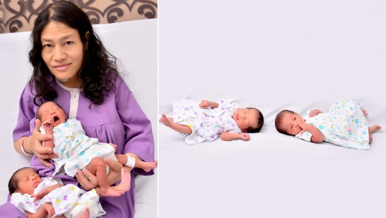 Irom Sharmila Shares Photos With Her Newborn Twin Daughters, Nix Sakhi and Autumn Tara (See Pictures)