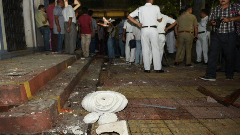 Amit Shah Accuses TMC of Vandalising Ishwar Chandra Vidyasagar's Statue