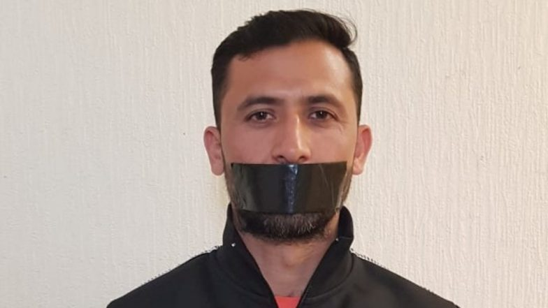 Junaid Khan 'Protests' After Being Removed From Pakistan Squad for Cricket World Cup 2019, Puts Tape on His Mouth