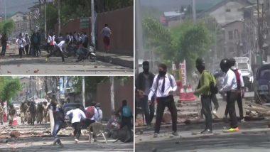 Bandipora Rape Case: J&K Students Clash With Police Outside Bemina, Amar Singh College in Srinagar