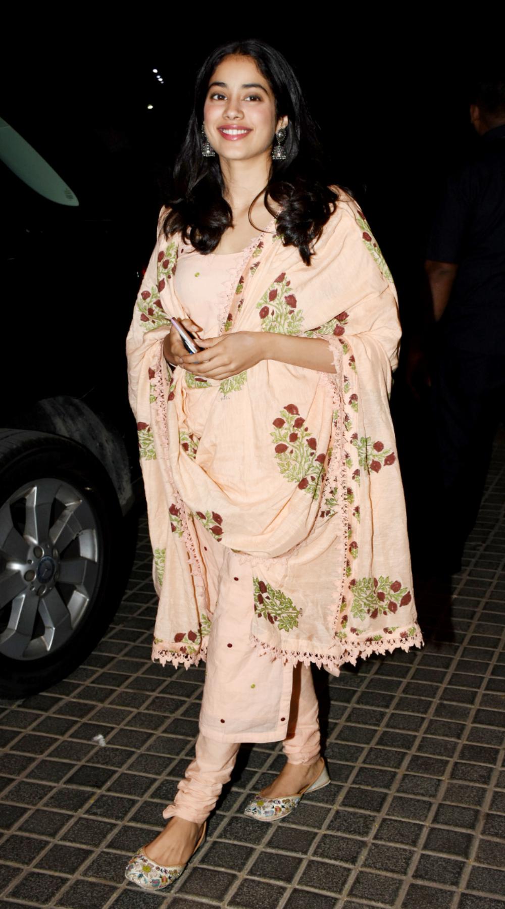 Janhvi Kapoor at India's Most Wanted screening.